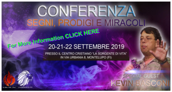 Italy - Miracle Signs and Wonders Gatherings